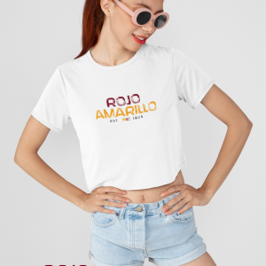 Rojo Amarillo Crop Top T-Shirt